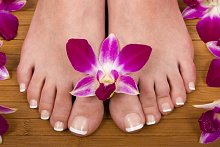 Home. Library Image: Feet with Flower